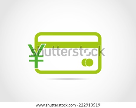 Yen Currency Credit Card - stock vector