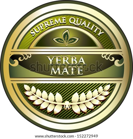 Yerba Mate Vintage Label - stock vector