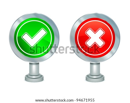 Yes and No signs - stock vector