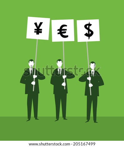 Yes Currency - stock vector