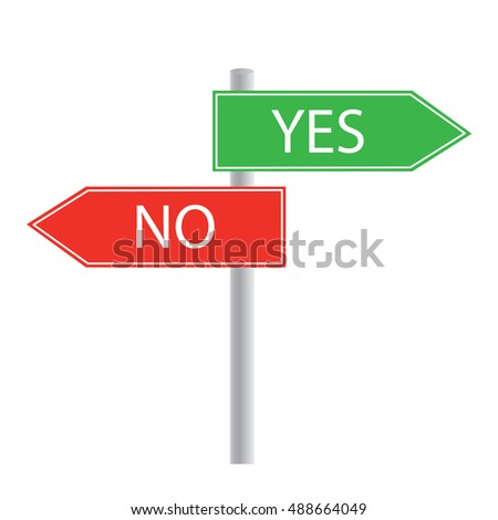 yes no concept signage