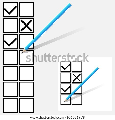 Yes no  tick boxes. - stock vector