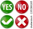 yes or no buttons - stock photo