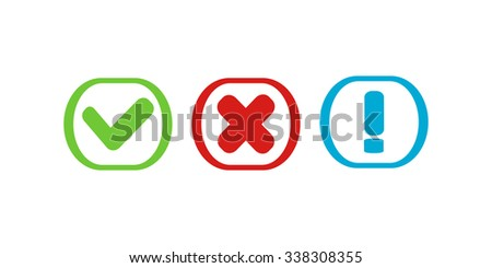 Yes or no paper icons - stock vector