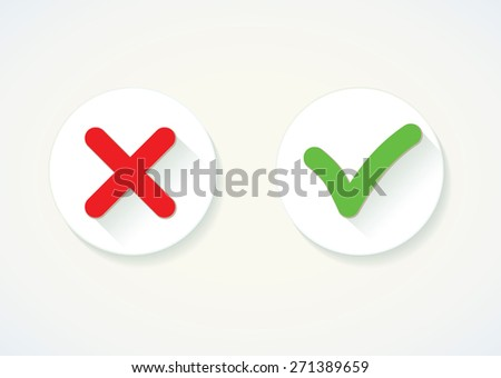 Yes or No. Vector icon - stock vector