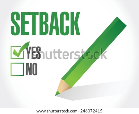 yes to a setback. check list illustration design over a white background