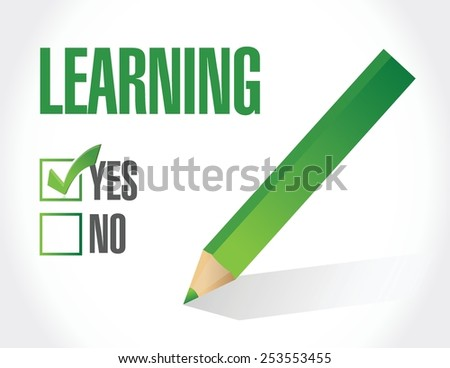 yes to learning check list illustration design over a white background