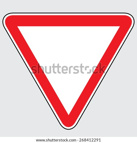 Yield Triangle Sign - stock vector