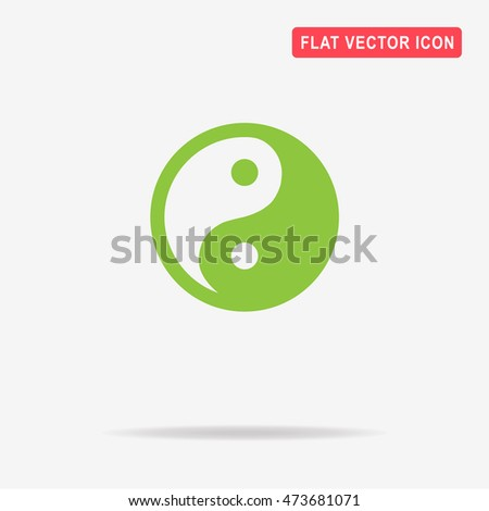 Yin and yang icon. Vector concept illustration for design.