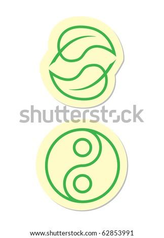Yin Yang Icons - stock vector