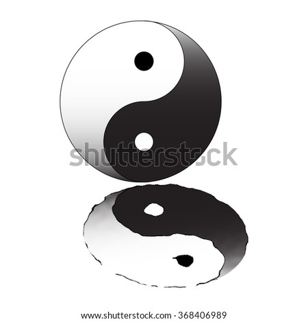 Yin Yang sign - stock vector
