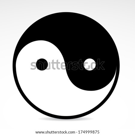 Yin yang sign icon. VECTOR illustration. - stock vector