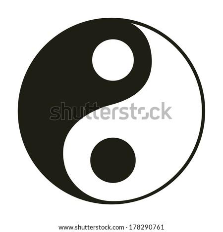 Yin & yang symbol. - stock vector