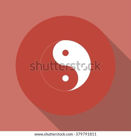 Yin Yang Symbol - Black and White Vector Illustration - stock vector