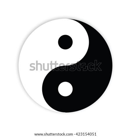 Yin yang symbol - design element - stock vector