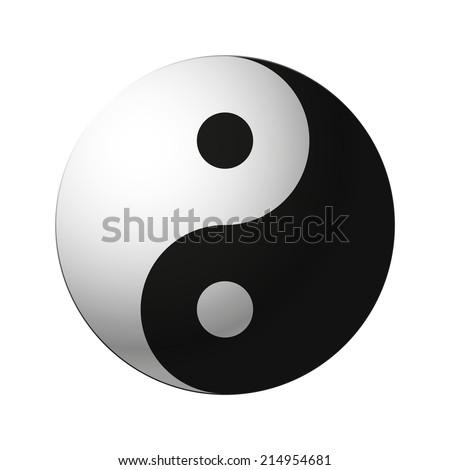 yin yang symbol isolated on white background. vector illustration - stock vector