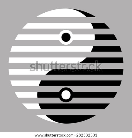 Yin yang, symbol of balance and harmony - stock vector