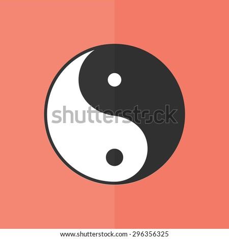 yin yang symbol vector icon. Flat design - stock vector