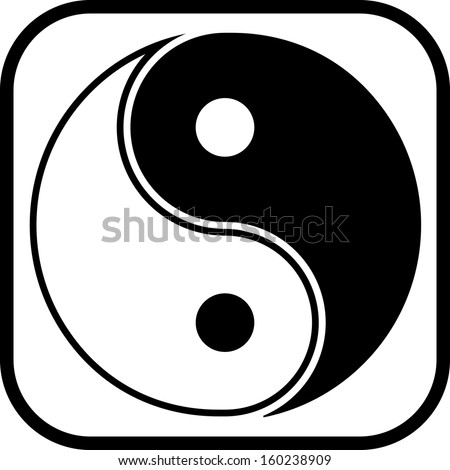 Yin yang symbol vector icon isolated  - stock vector