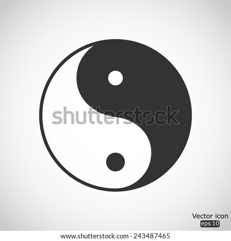 yin yang vector icon - stock vector