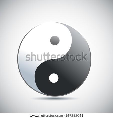 Yin Yang vector illustration - stock vector