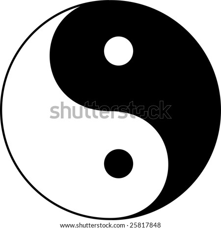 Yin Yang vector illustration - stock vector