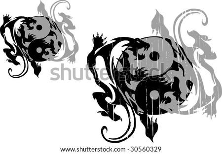 ying yang - stock vector