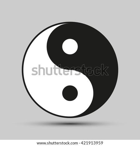 Ying yang balance symbol - stock vector