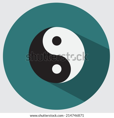 Ying yang icon - stock vector
