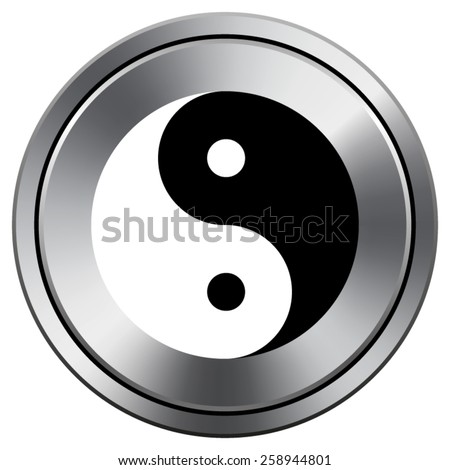 Ying yang icon. Internet button on white background. EPS10 Vector.
