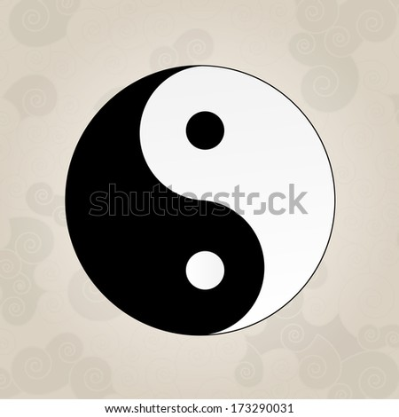 Ying Yang, japanese tattoo - stock vector