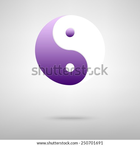 Ying yang symbol of harmony and balance - stock vector