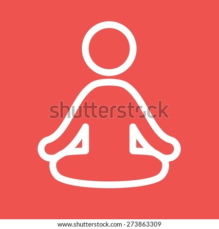 Yoga, aerobics, exercise, fitness icon vector image. Can also be used for sports, fitness, recreation. Suitable for web apps, mobile apps and print media. - stock vector