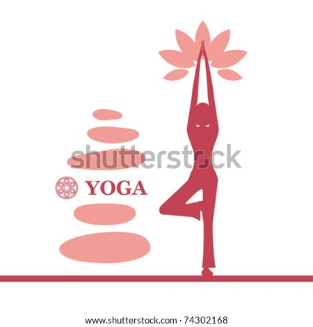 Yoga and pilates background. Illustration vector. - stock vector