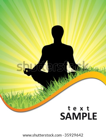 yoga background - stock vector