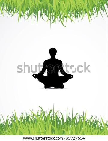 yoga background - stock vector