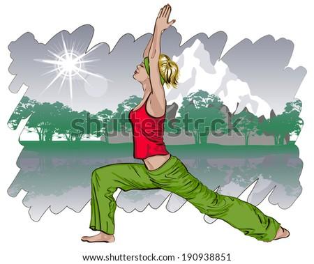 Yoga concept   - stock vector