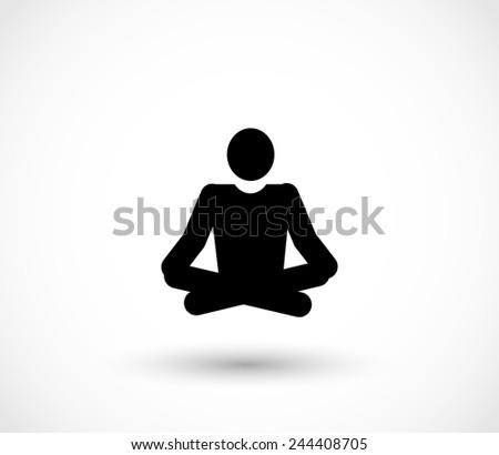 Yoga icon vector - stock vector