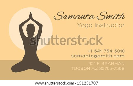 Yoga instructor business card vector template stock vector 151251707 yoga instructor business card vector template reheart Choice Image