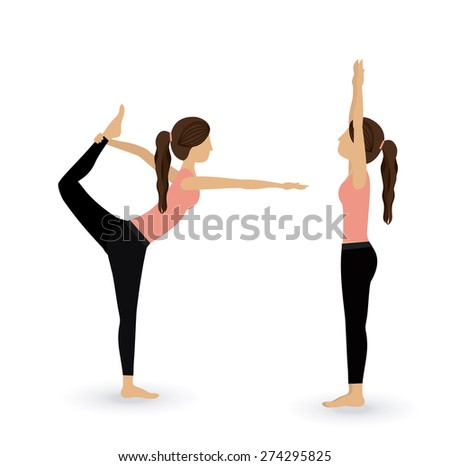 Yoga life design over white background, vector illustration - stock vector