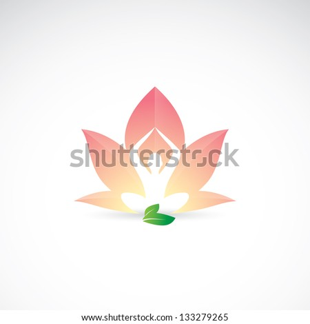 Yoga - lotus position - vector illustration - stock vector