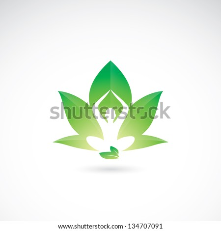 Yoga lotus - vector illustration - stock vector