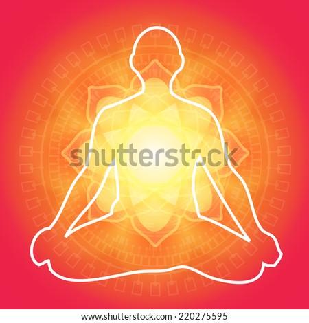 Yoga Meditation - Illustration - stock vector