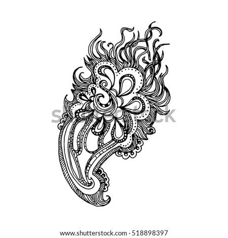 Yoga, meditation vector illustration set. Vintage decorative vector  elements isolated. Hand drawn.