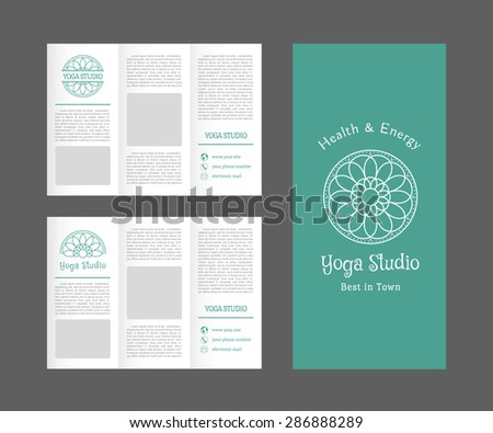 Brochure template yoga stock images royalty free images for Yoga brochure templates