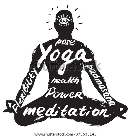 yoga pose - stock vector