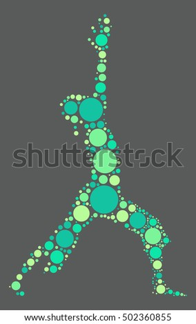 Yoga shape vector design by color point
