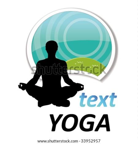 yoga sign #3 - stock vector