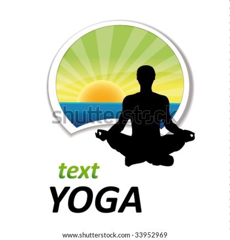 yoga sign #7 - stock vector