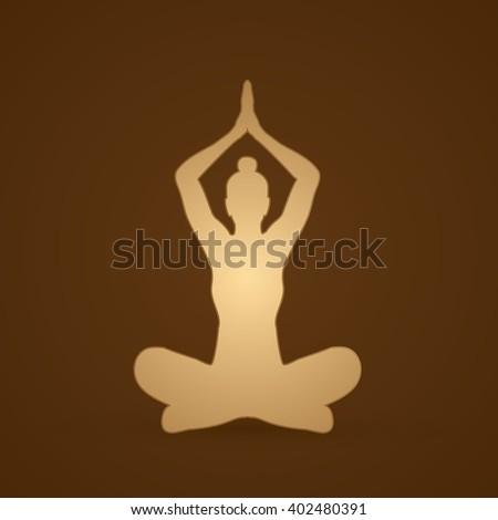 Yoga Sitting pose graphic vector. - stock vector